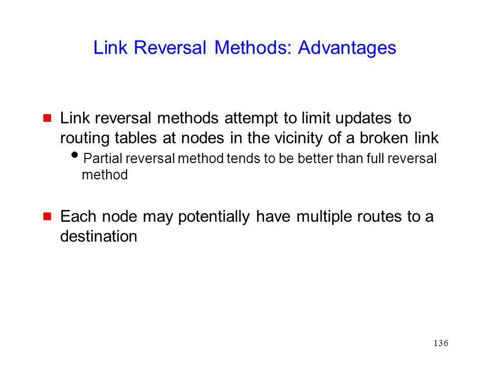 Link Reversal Methods: Advantages