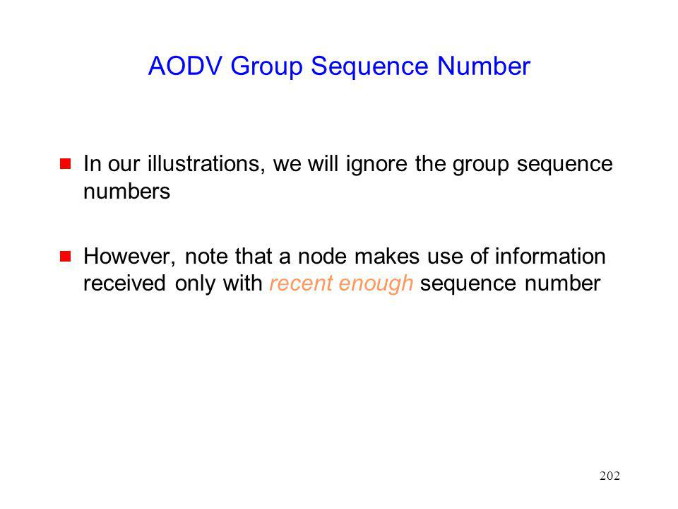 AODV Group Sequence Number