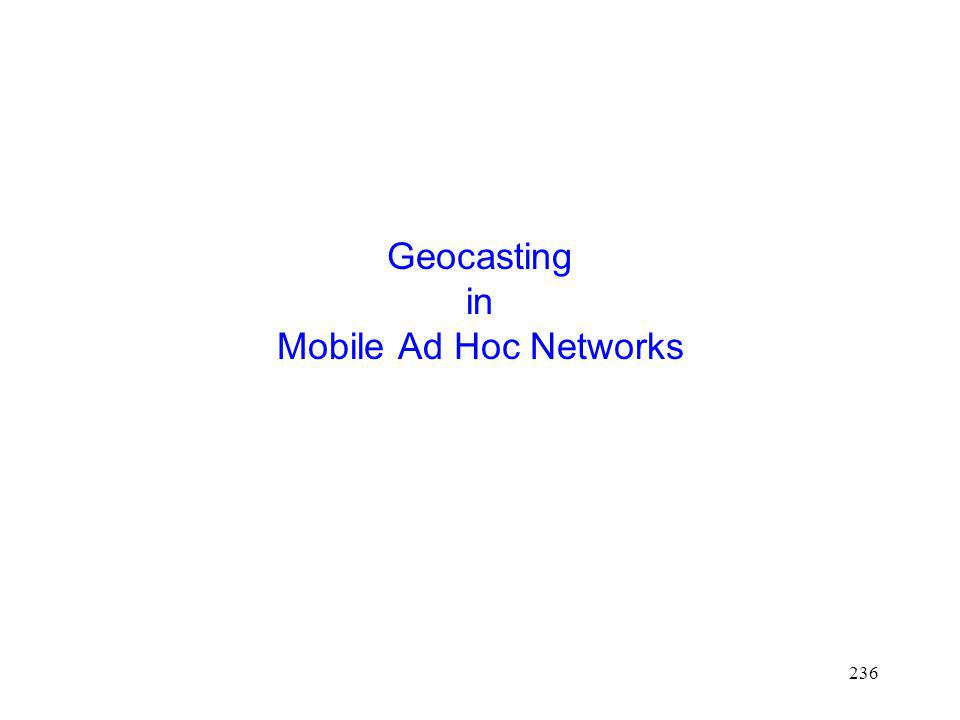 Geocasting in Mobile Ad Hoc Networks