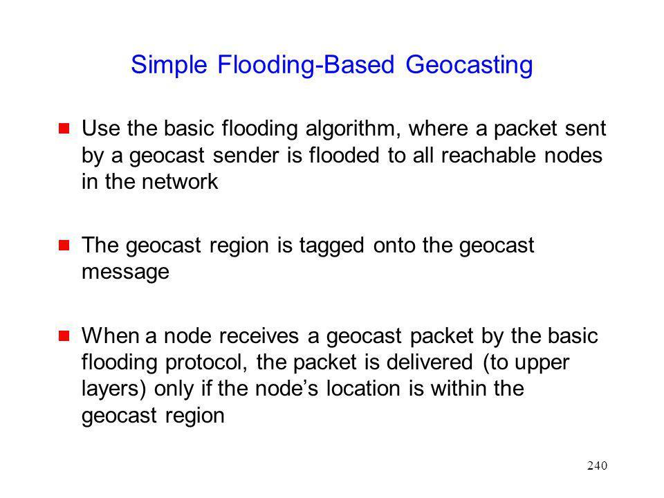 Simple Flooding-Based Geocasting