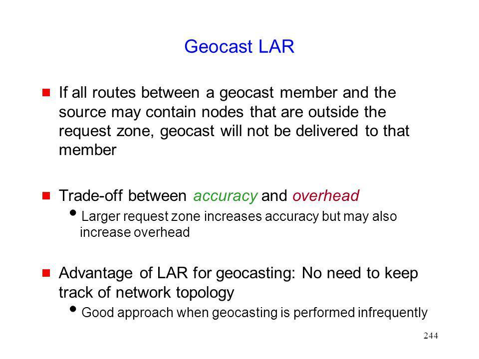 Geocast LAR