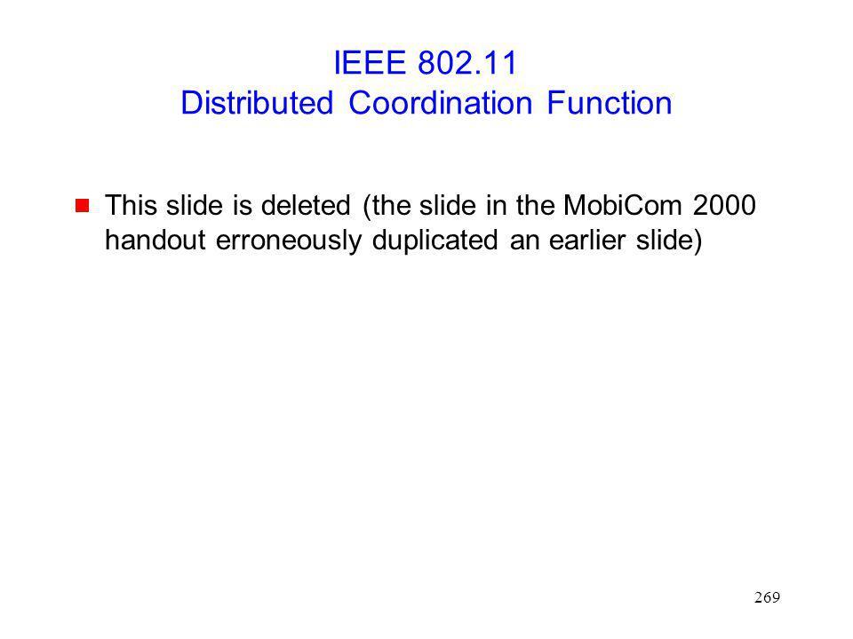 IEEE 802.11 Distributed Coordination Function