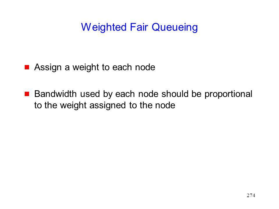 Weighted Fair Queueing