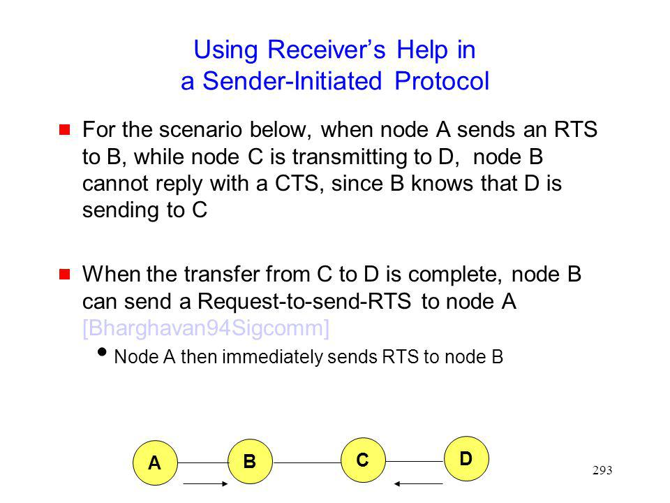 Using Receiver's Help in a Sender-Initiated Protocol