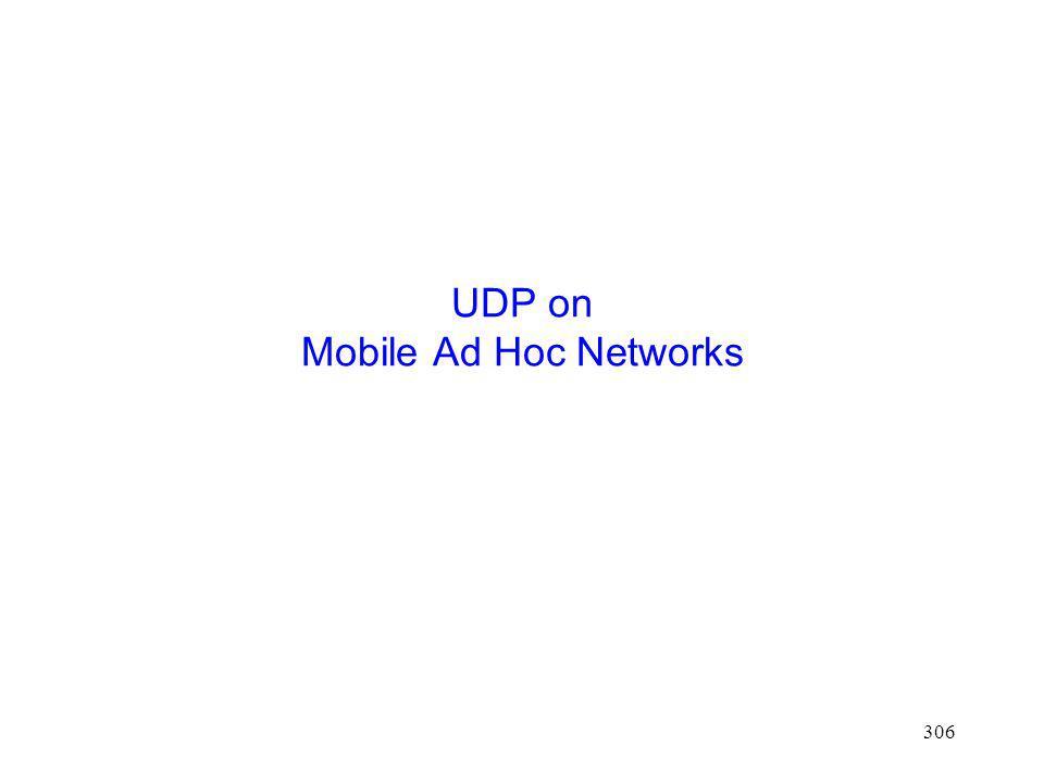 UDP on Mobile Ad Hoc Networks