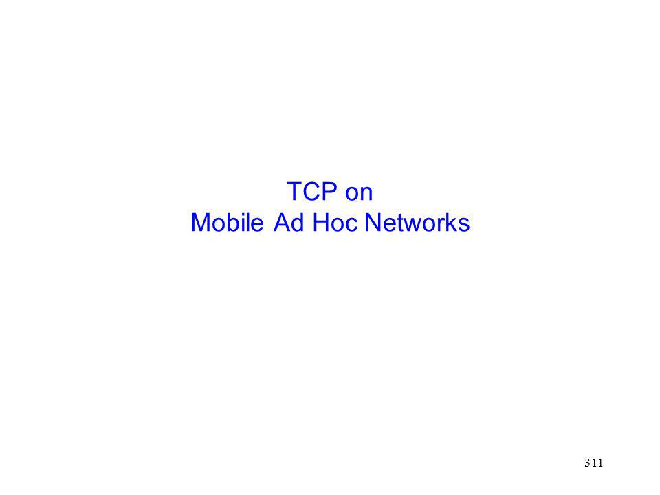 TCP on Mobile Ad Hoc Networks