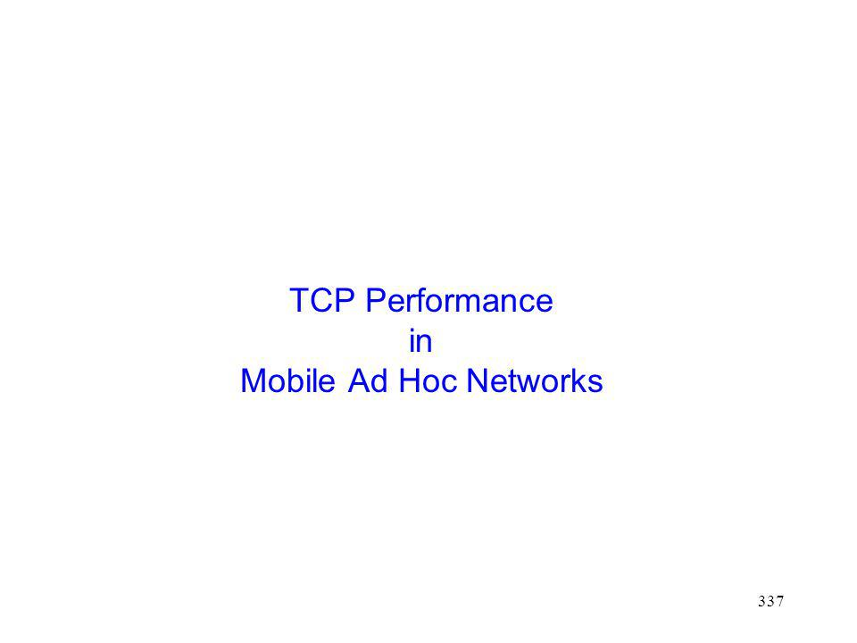 TCP Performance in Mobile Ad Hoc Networks