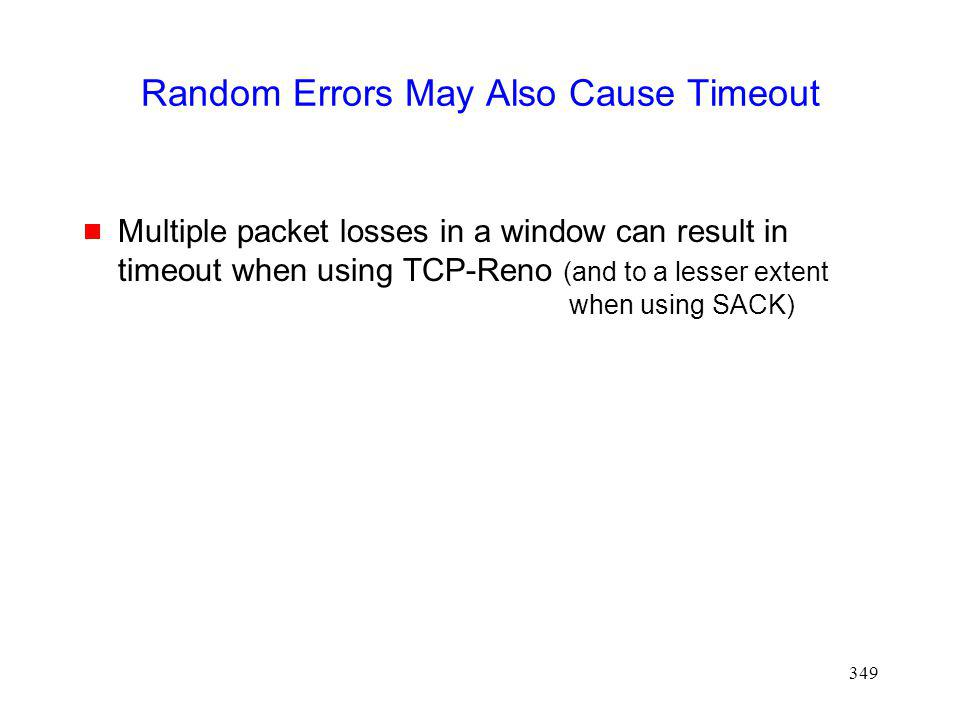 Random Errors May Also Cause Timeout