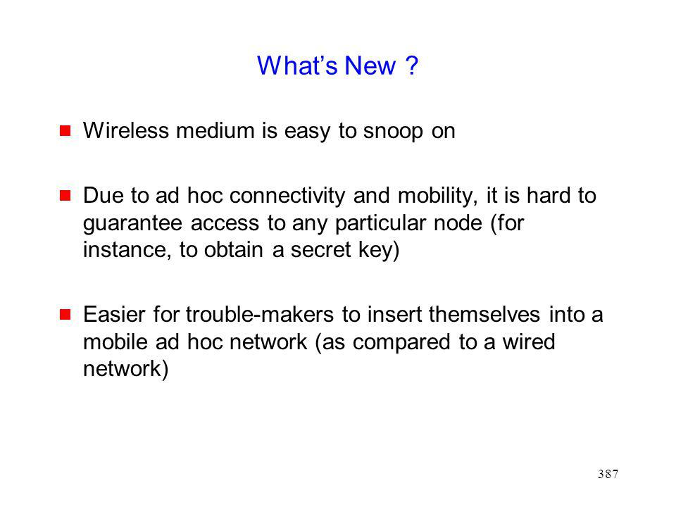 What's New Wireless medium is easy to snoop on