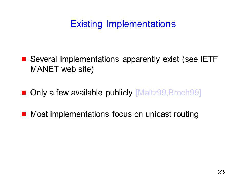 Existing Implementations