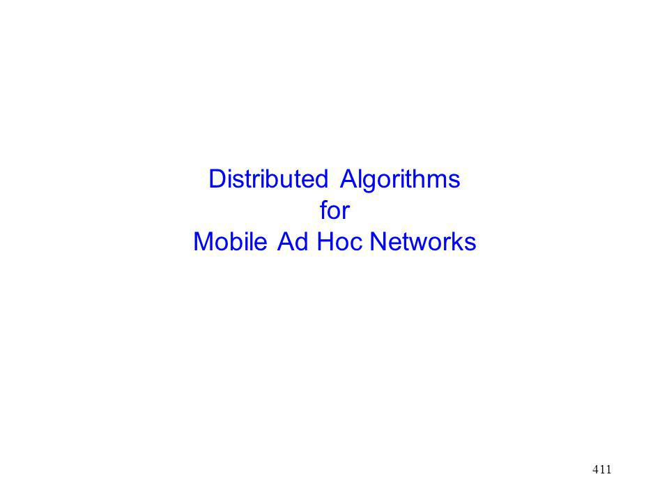 Distributed Algorithms for Mobile Ad Hoc Networks