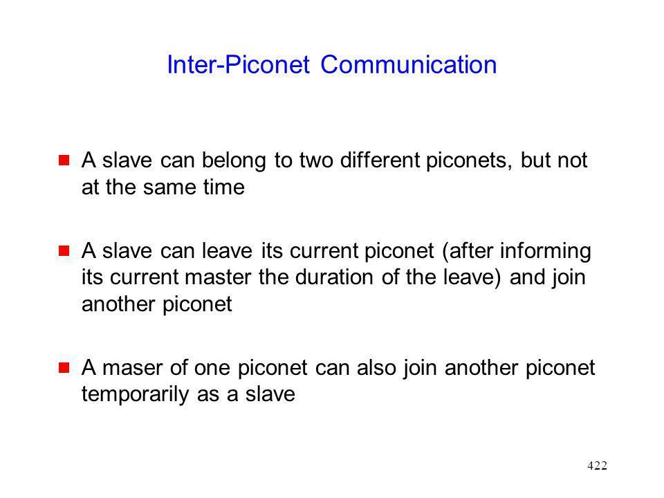 Inter-Piconet Communication