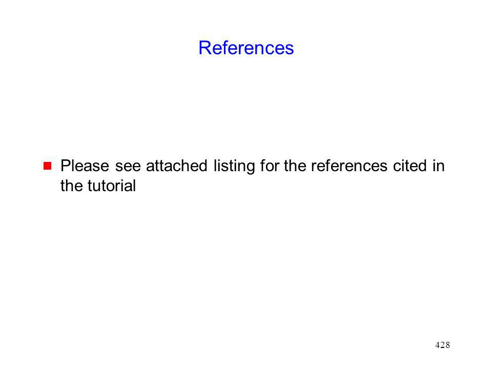 References Please see attached listing for the references cited in the tutorial