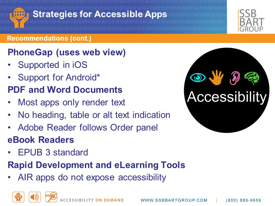 Strategies for Accessible Apps
