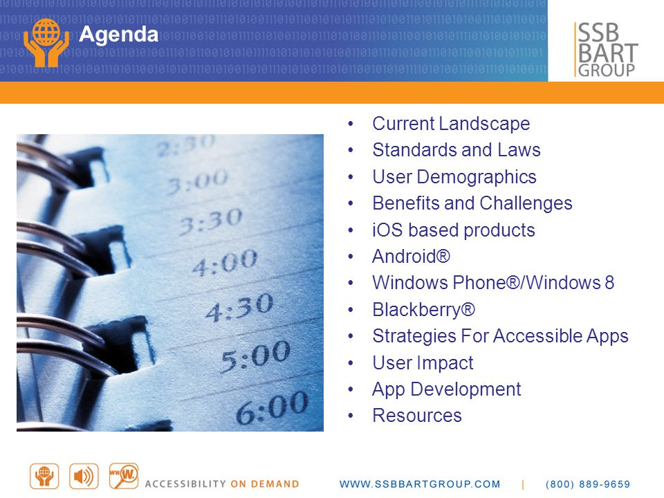 Agenda Current Landscape Standards and Laws User Demographics