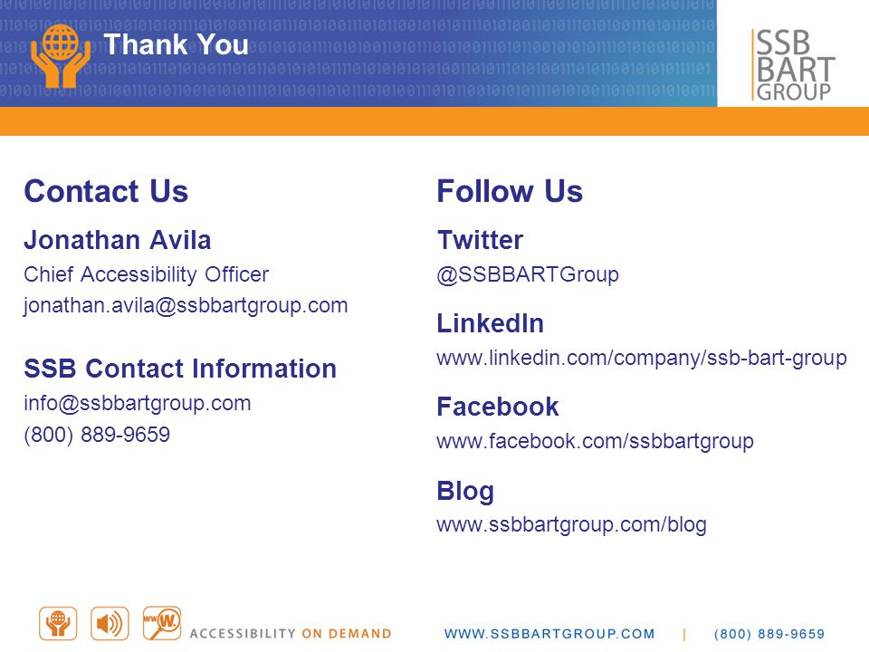 Contact Us Follow Us Thank You Jonathan Avila