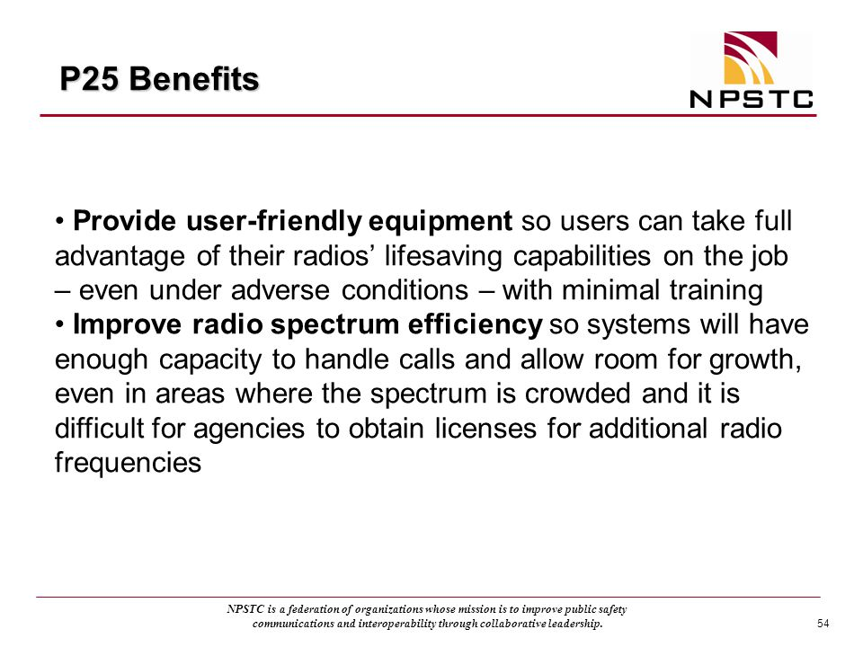 P25 Benefits
