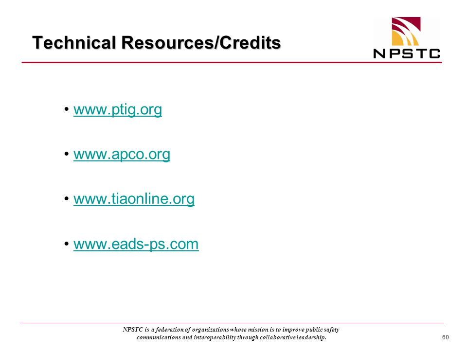 Technical Resources/Credits
