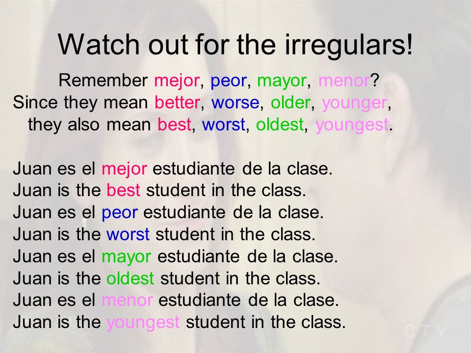 Watch out for the irregulars!