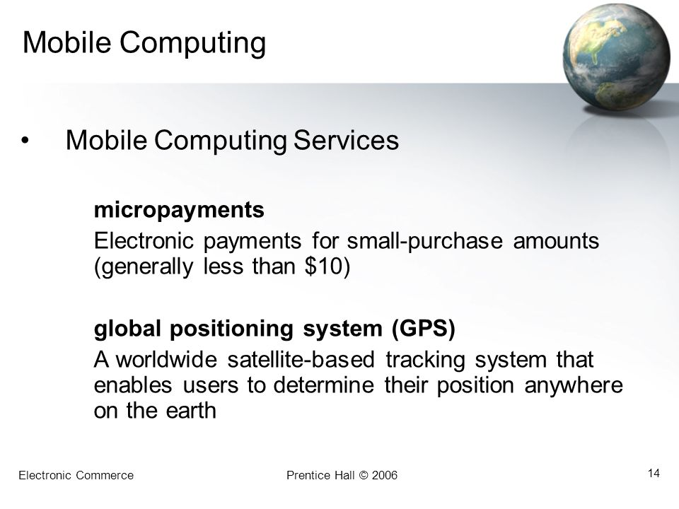 Mobile Computing Mobile Computing Services micropayments