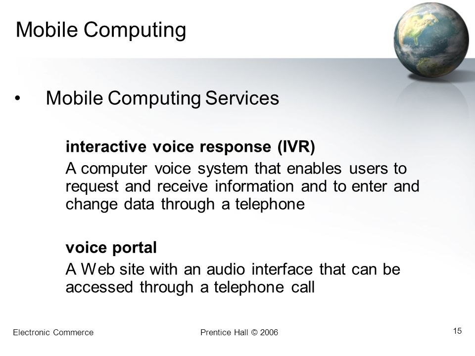 Mobile Computing Mobile Computing Services