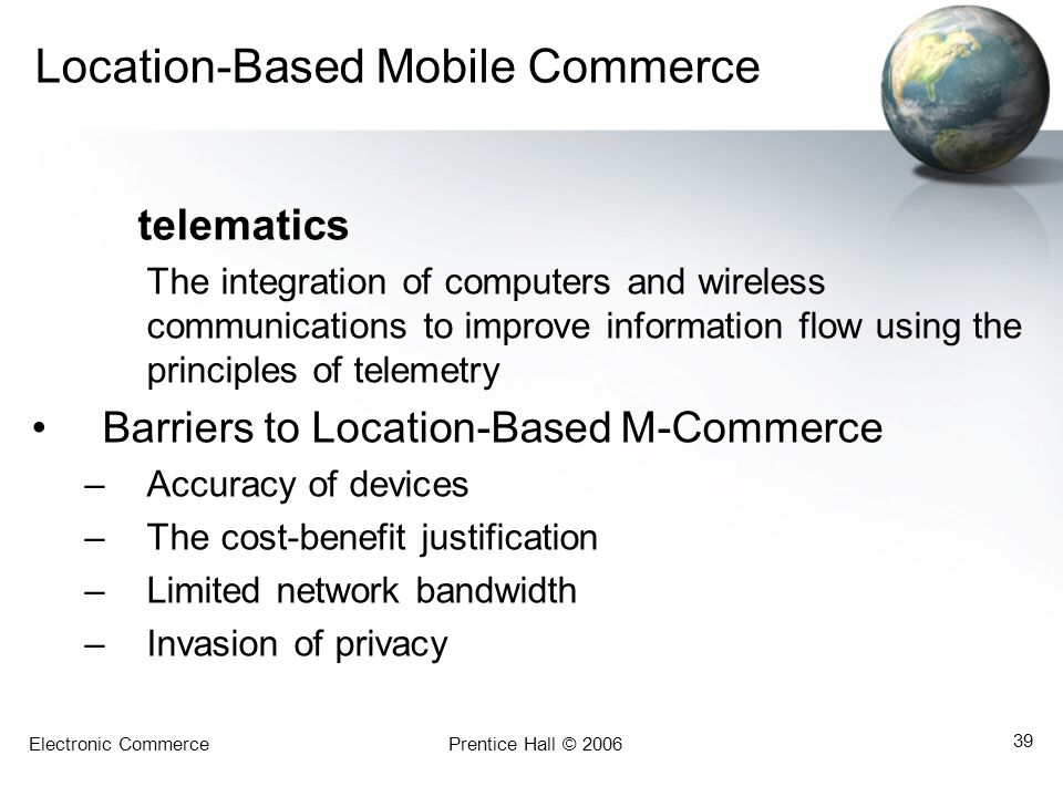 Location-Based Mobile Commerce