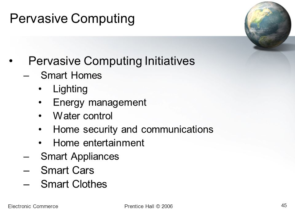 Pervasive Computing Pervasive Computing Initiatives Smart Cars