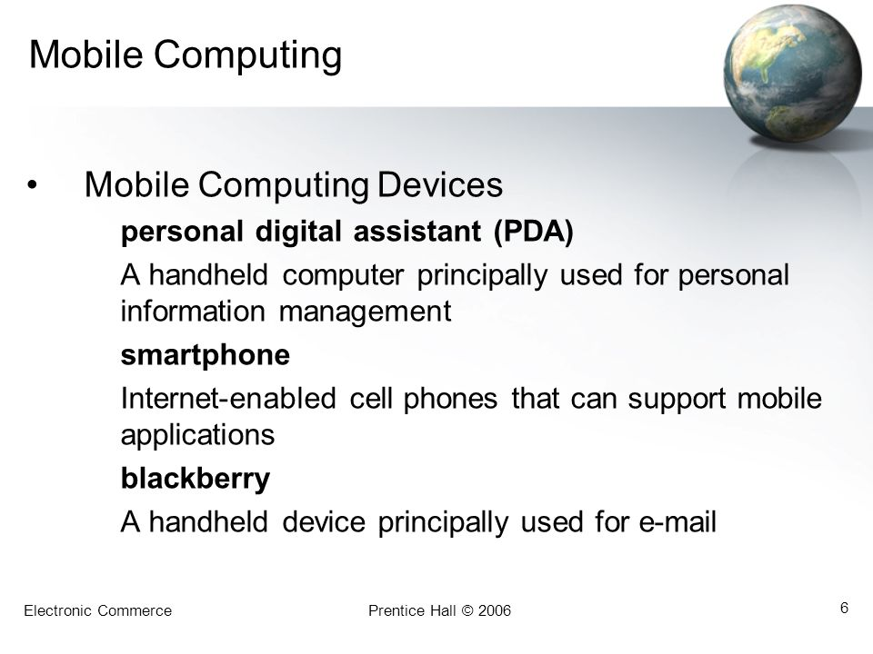 Mobile Computing Mobile Computing Devices