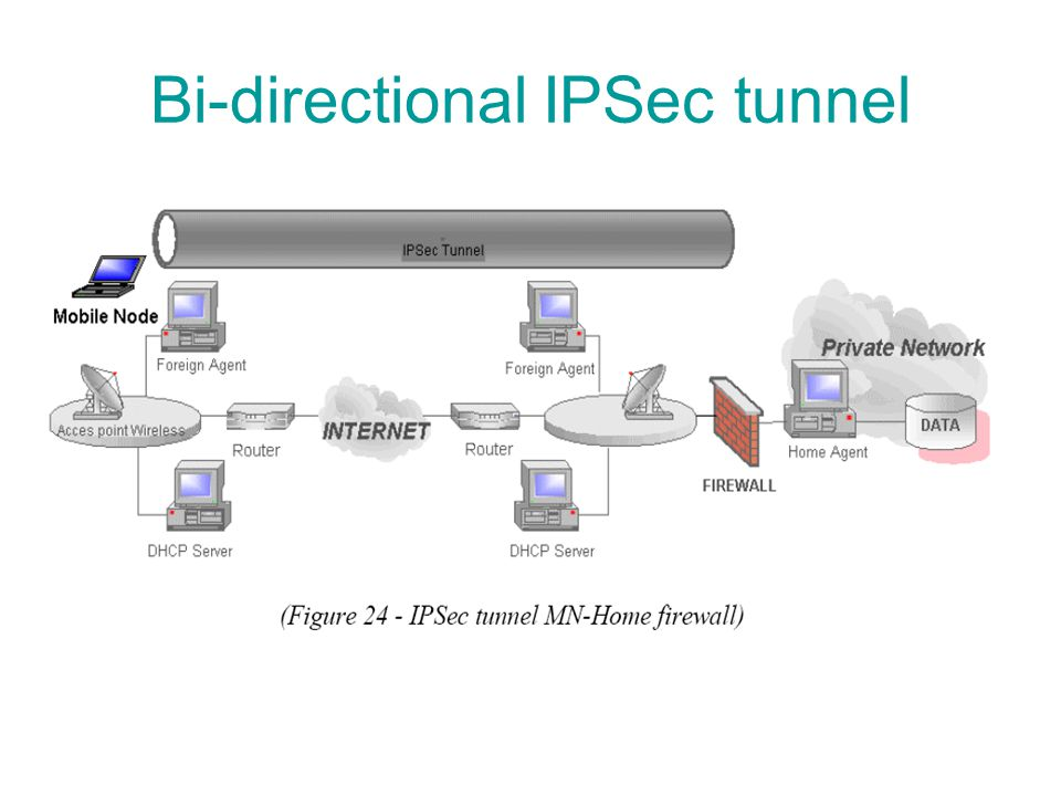 Bi-directional IPSec tunnel