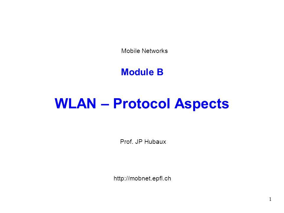 Module B WLAN – Protocol Aspects