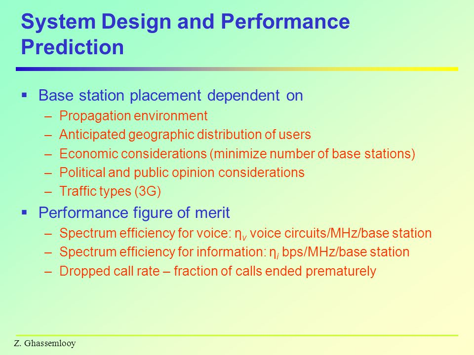 System Design and Performance Prediction