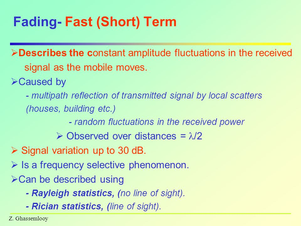 Fading- Fast (Short) Term