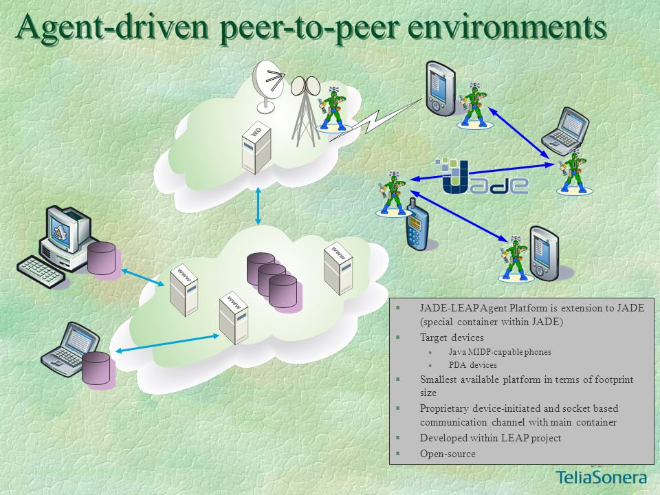 Agent-driven peer-to-peer environments