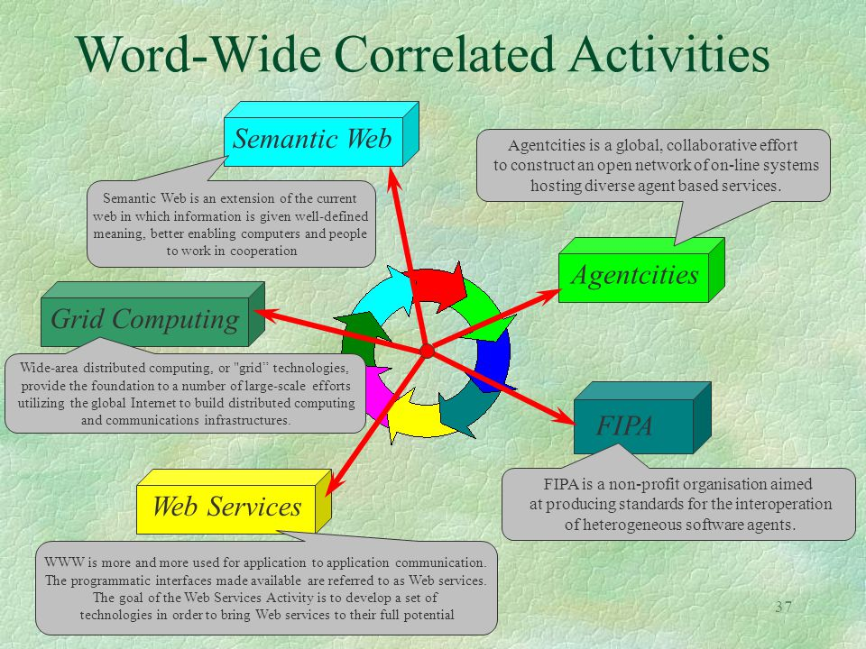 Word-Wide Correlated Activities
