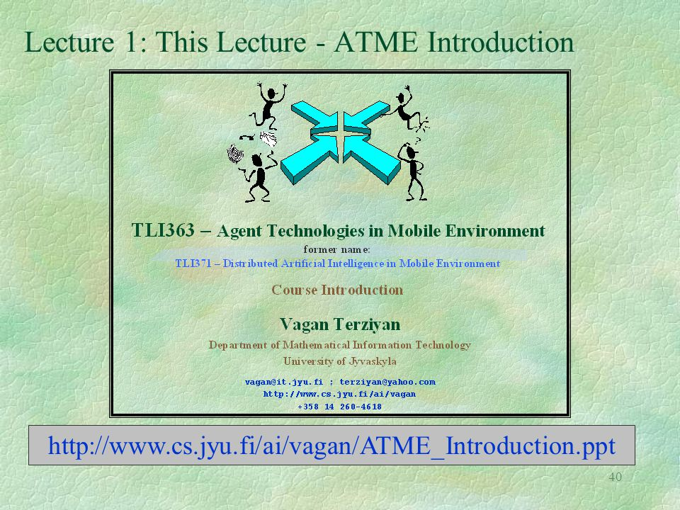Lecture 1: This Lecture - ATME Introduction