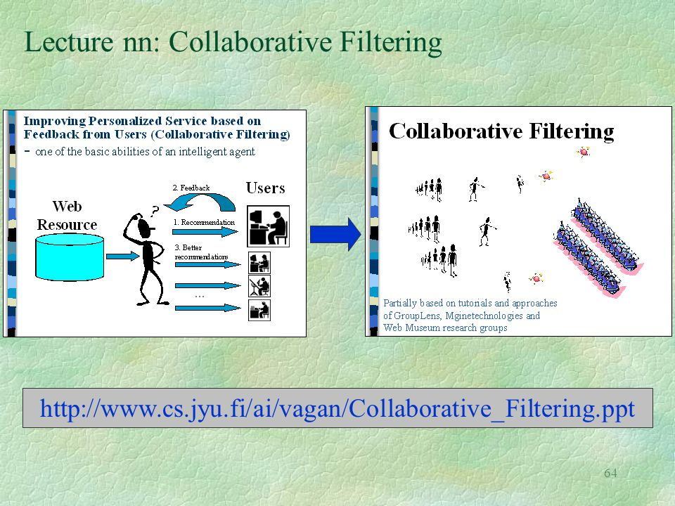 Lecture nn: Collaborative Filtering