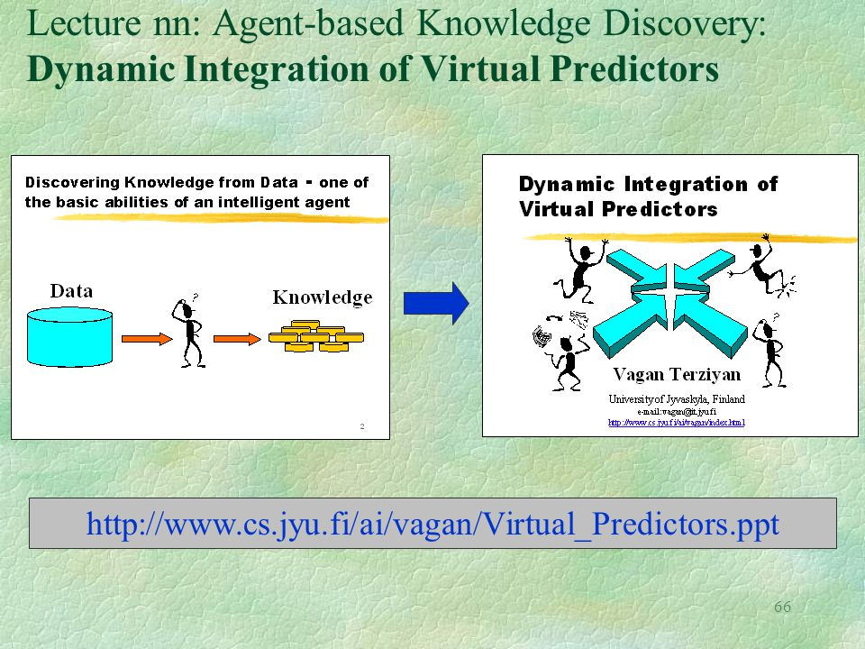 Lecture nn: Agent-based Knowledge Discovery: Dynamic Integration of Virtual Predictors