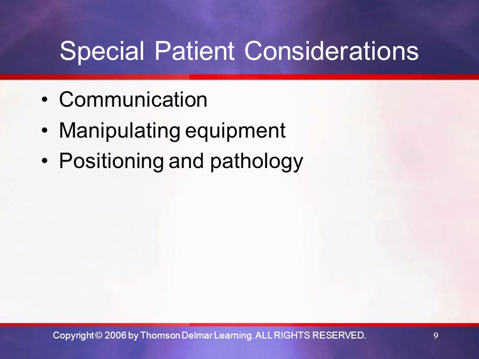 Special Patient Considerations