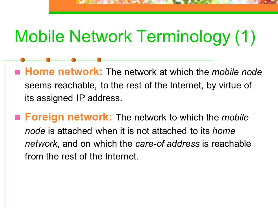 Mobile Network Terminology (1)