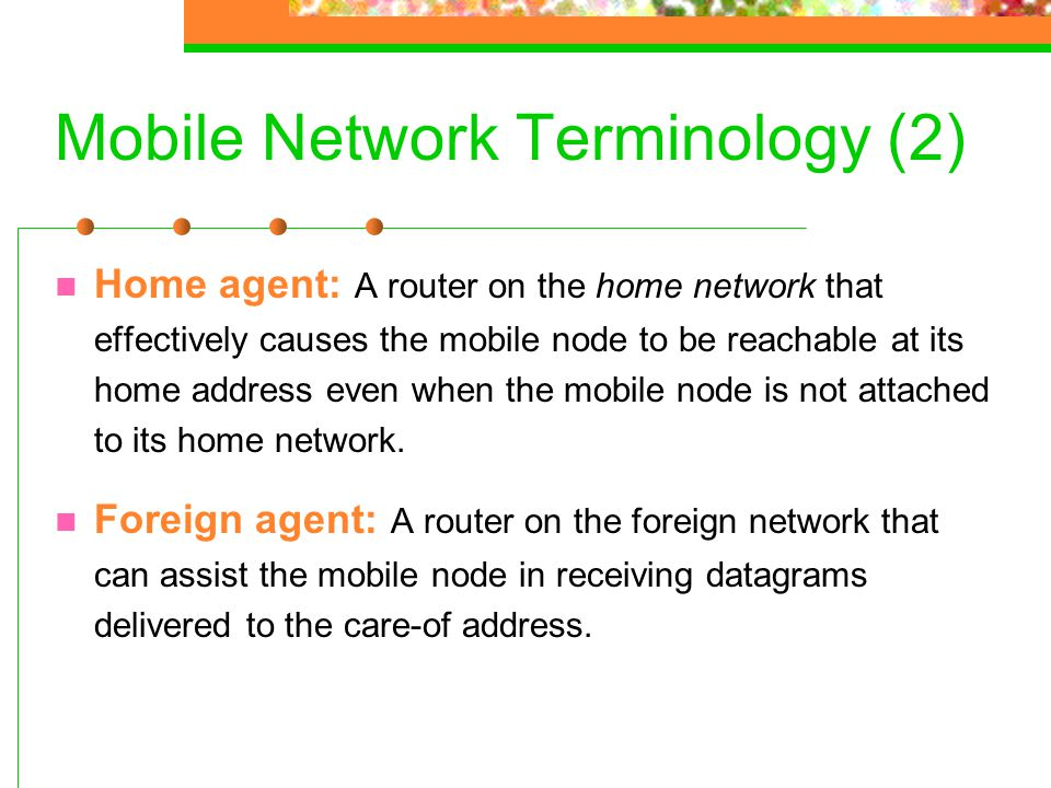 Mobile Network Terminology (2)