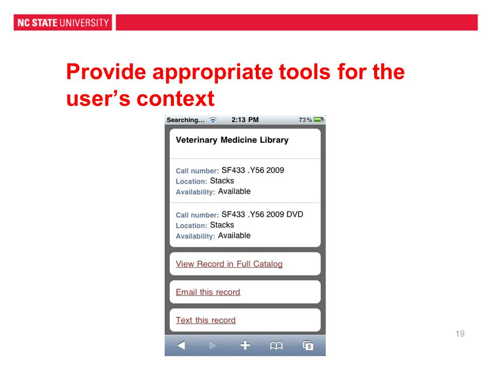 Provide appropriate tools for the user's context