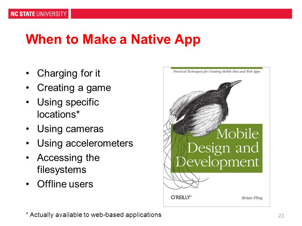 When to Make a Native App