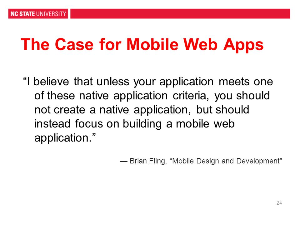 The Case for Mobile Web Apps