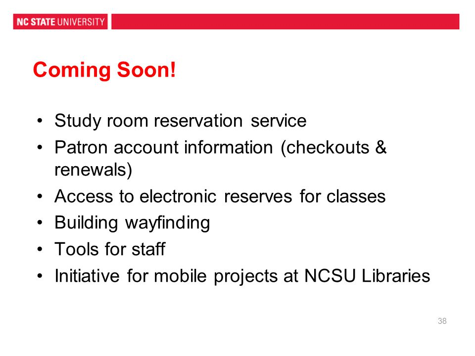 Coming Soon! Study room reservation service