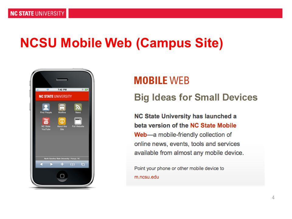 NCSU Mobile Web (Campus Site)