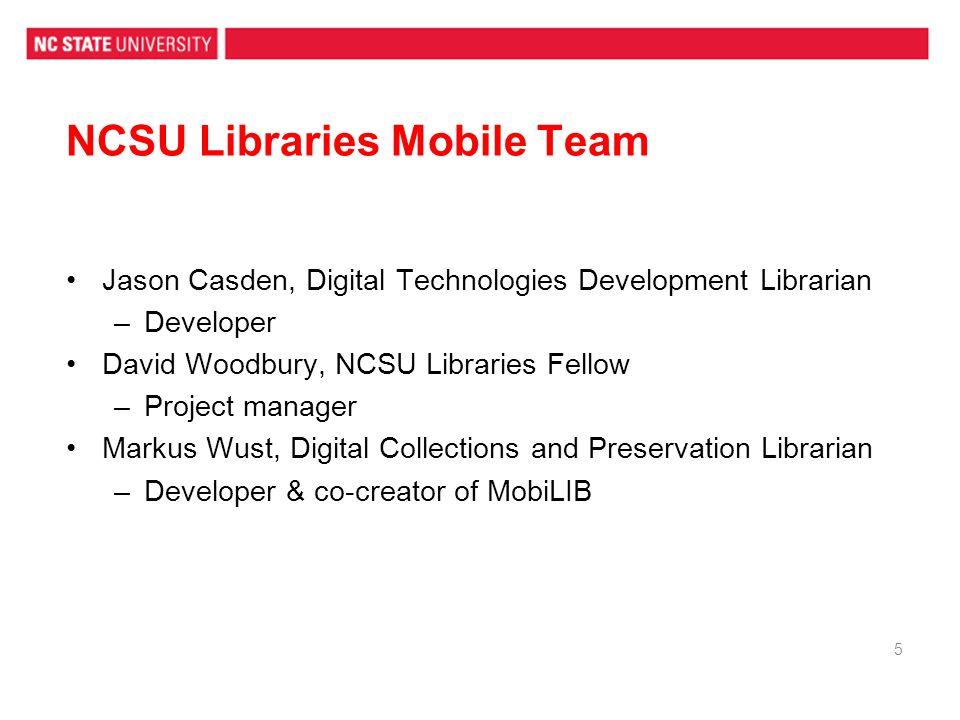 NCSU Libraries Mobile Team