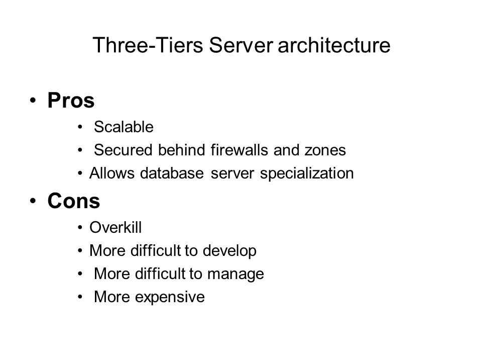 Three-Tiers Server architecture