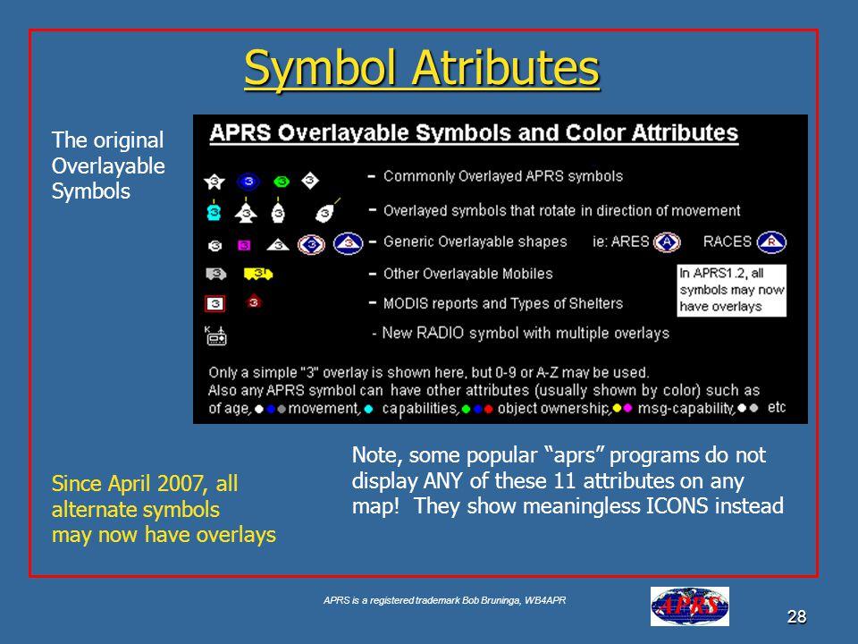 Symbol Atributes The original Overlayable Symbols