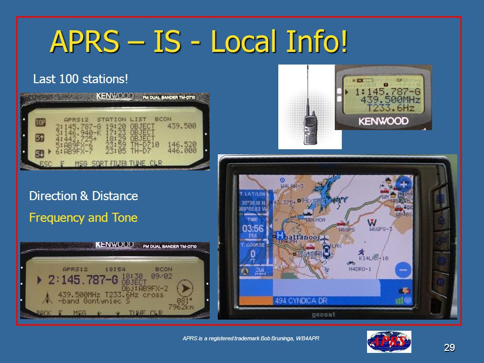 APRS – IS - Local Info! Last 100 stations! Direction & Distance