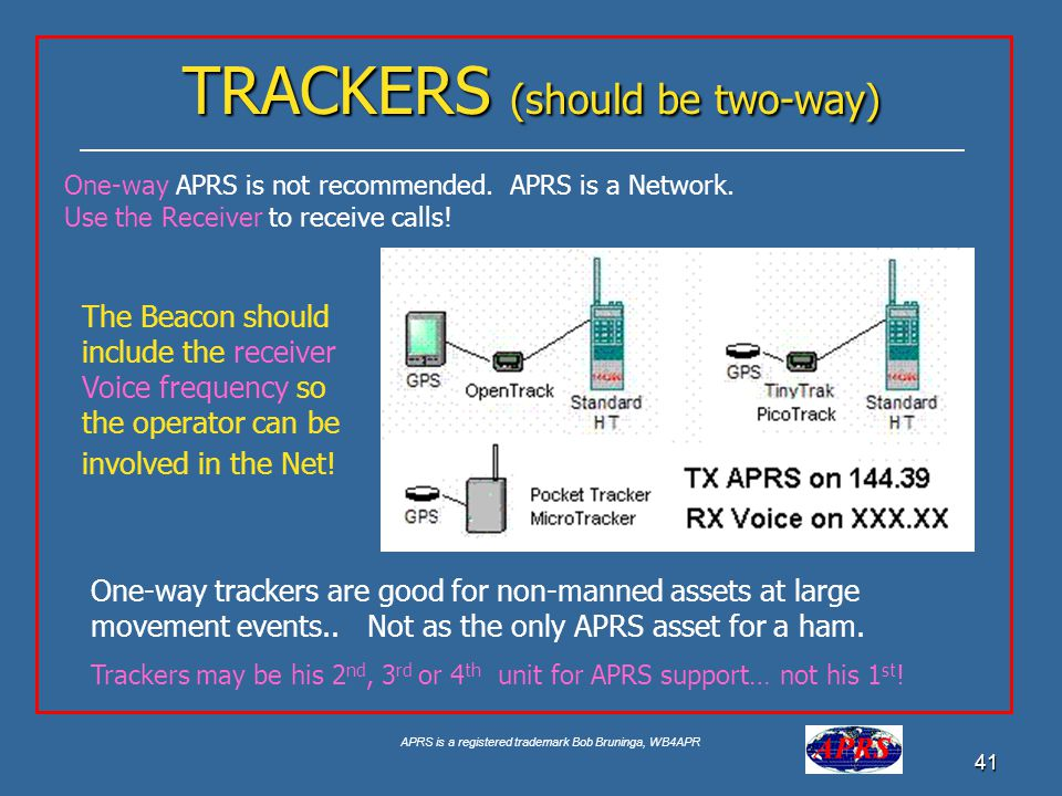 TRACKERS (should be two-way)